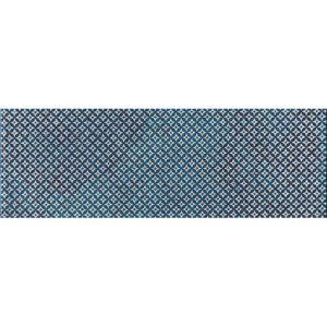 Indigo Ottoman Textile 2 Marble Tiles 10x30,5