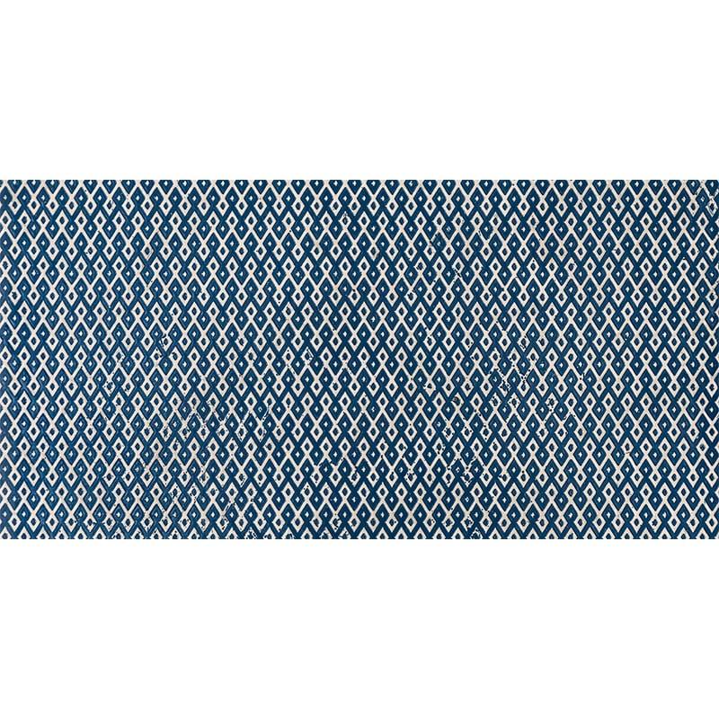 Indigo Ottoman Textile 1 Marble Tiles 7×14