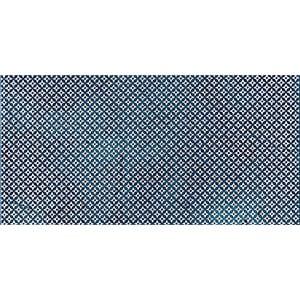 Indigo Ottoman Textile 2 Marble Tiles 7x14