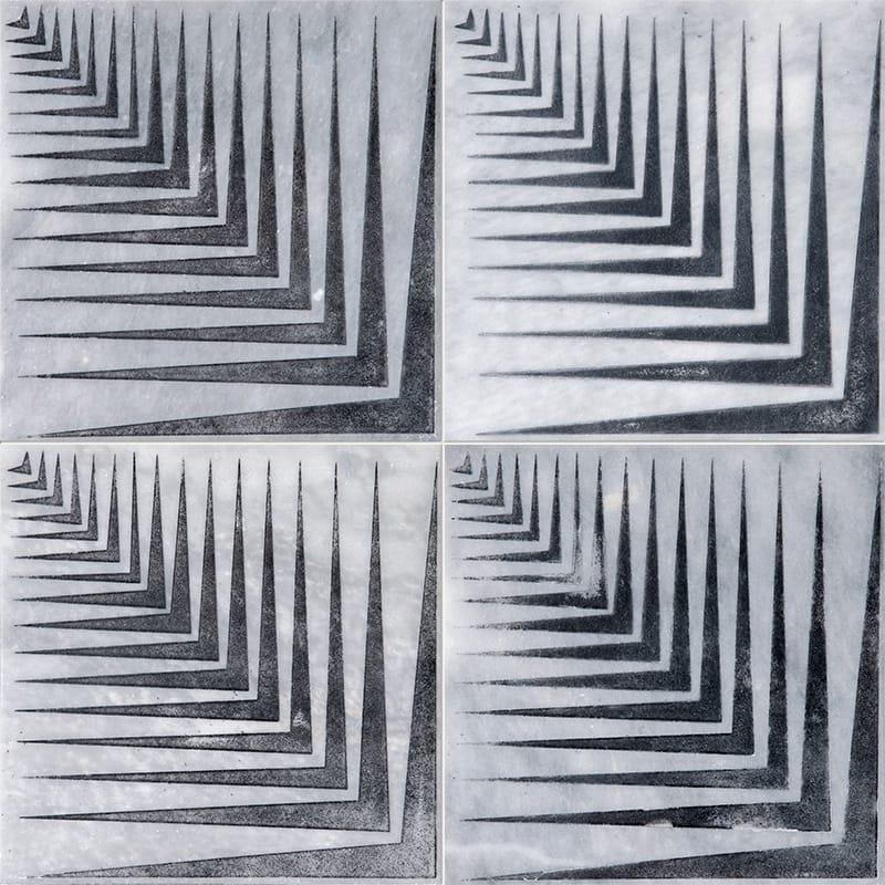 Allure Mad2 Black Diced Marble Tiles 25,4×25,4