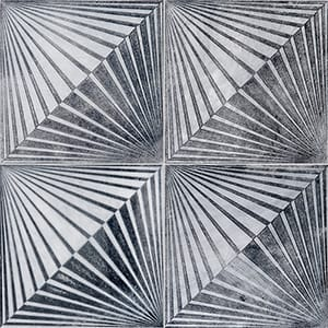 Allure Blade Black Diced Marble Tiles 25,4x25,4