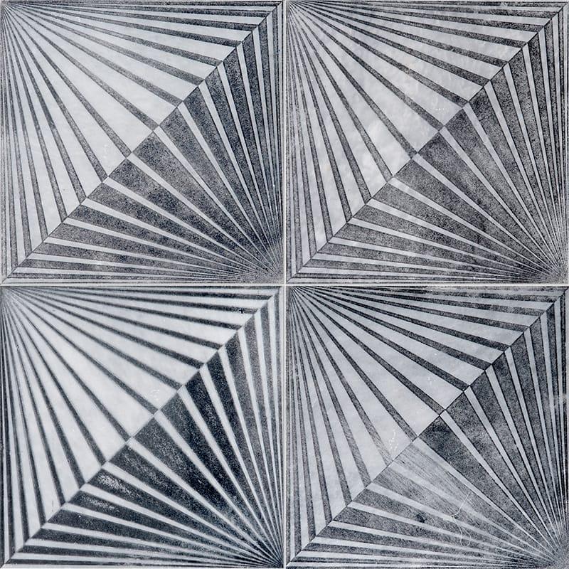 Allure Blade Black Diced Marble Tiles 25,4×25,4