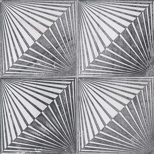 Fantasy White Blade Black Diced Marble Tiles 25,4x25,4