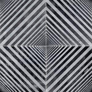 Allure Deep Black Diced Marble Tiles 25,4x25,4