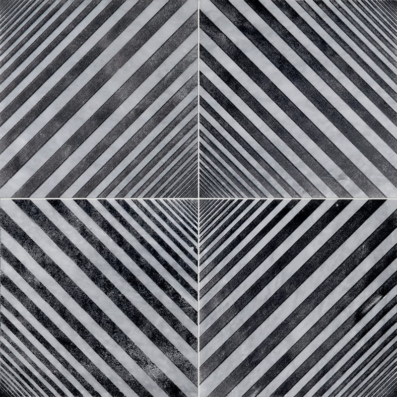 Allure Deep Black Diced Marble Tiles 25,4×25,4