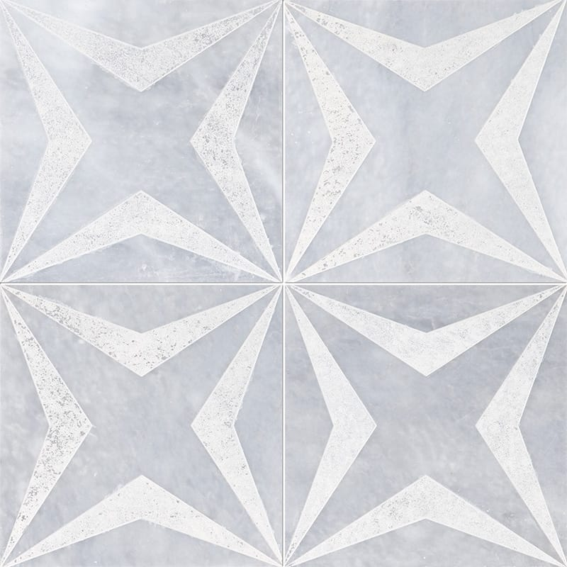 Allure Stars Beige Diced Marble Tiles 20,3x20,3