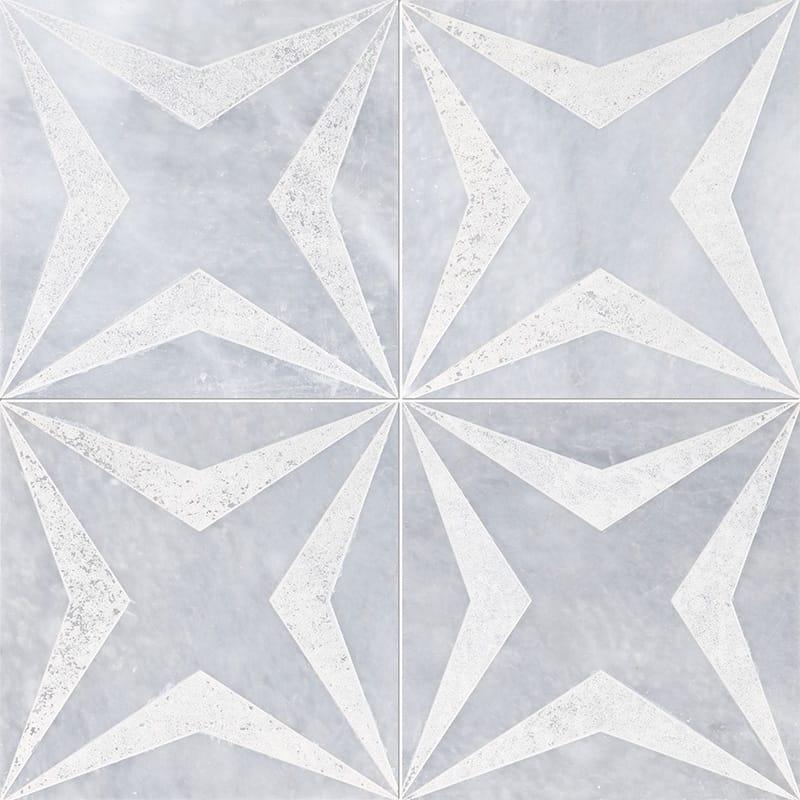 Allure Stars Beige Diced Marble Tiles 20,3×20,3