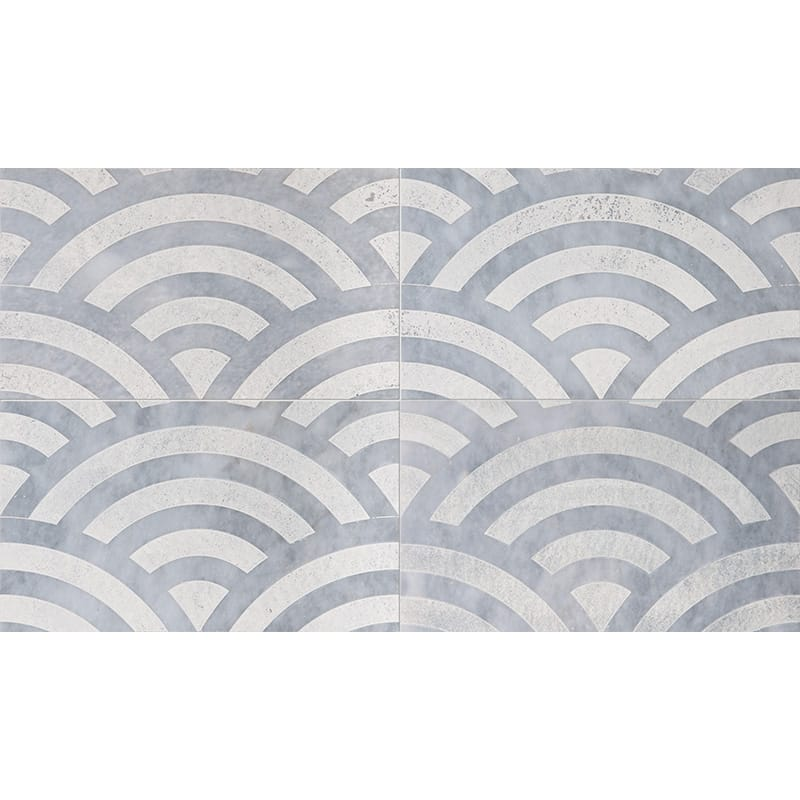 Allure Japanese Wave Beige Diced Marble Tiles 23,5x40,6