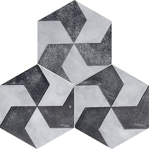 Allure Polygons Black Diced Marble Tiles 20,3x20,3