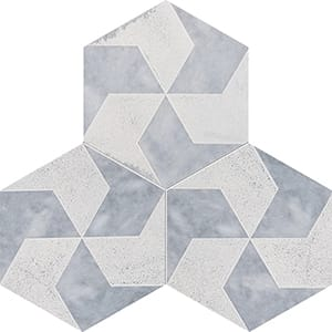 Allure Polygons Beige Diced Marble Tiles 20,3x20,3
