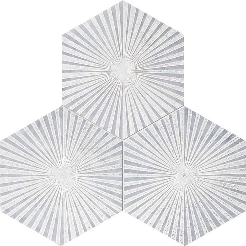 Allure Reflection Beige Diced Marble Tiles 20,3×20,3