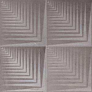 Bosphorus Mad1 Brown Diced Limestone Tiles 25,4x25,4