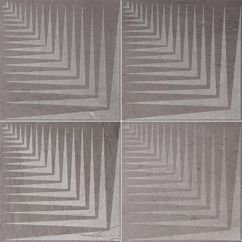 Bosphorus Mad1 Brown Diced Limestone Tiles 25,4×25,4