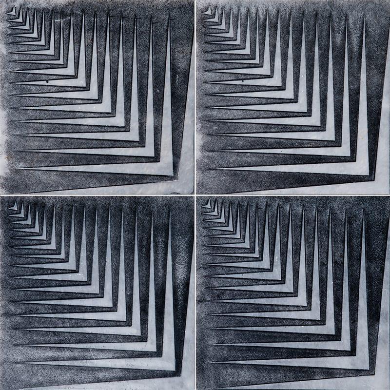 Allure Mad1 Black Diced Marble Tiles 25,4×25,4