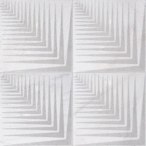 Fantasy White Mad2 Gray Diced Marble Tiles 25,4x25,4