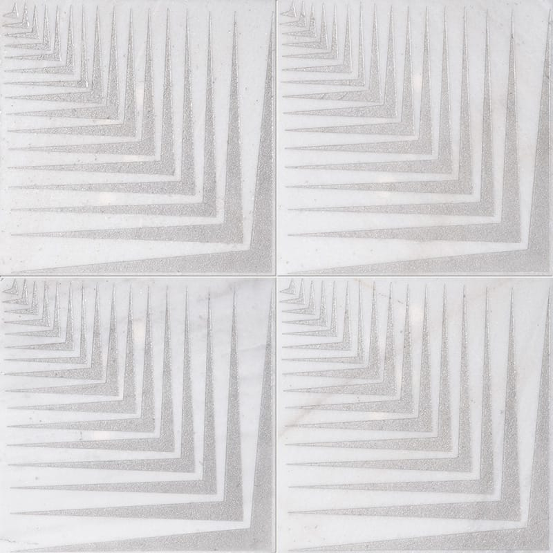Fantasy White Mad2 Gray Diced Marble Tiles 25,4×25,4