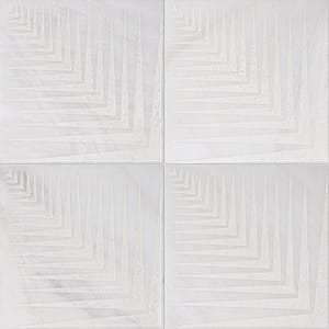 Fantasy White Mad2 Beige Diced Marble Tiles 25,4x25,4