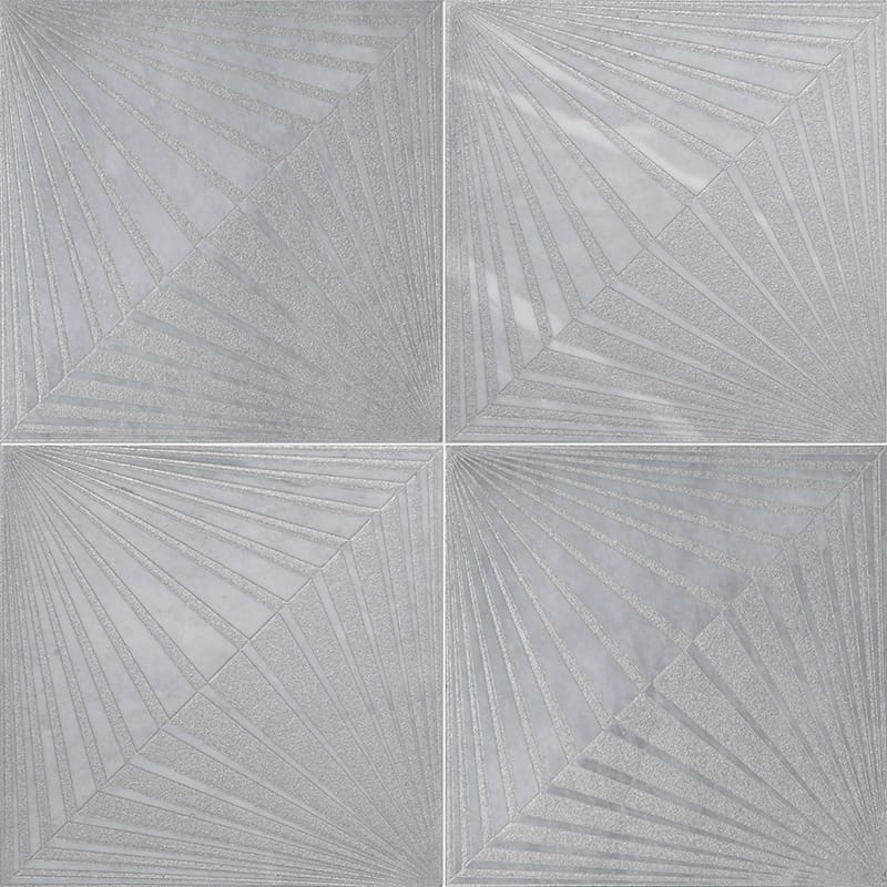 Allure Blade Gray Diced Marble Tiles 25,4×25,4