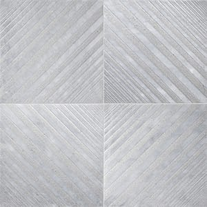 Allure Deep Gray Diced Marble Tiles 25,4x25,4