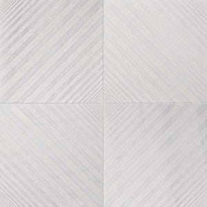 Fantasy White Deep Beige Diced Marble Tiles 25,4x25,4