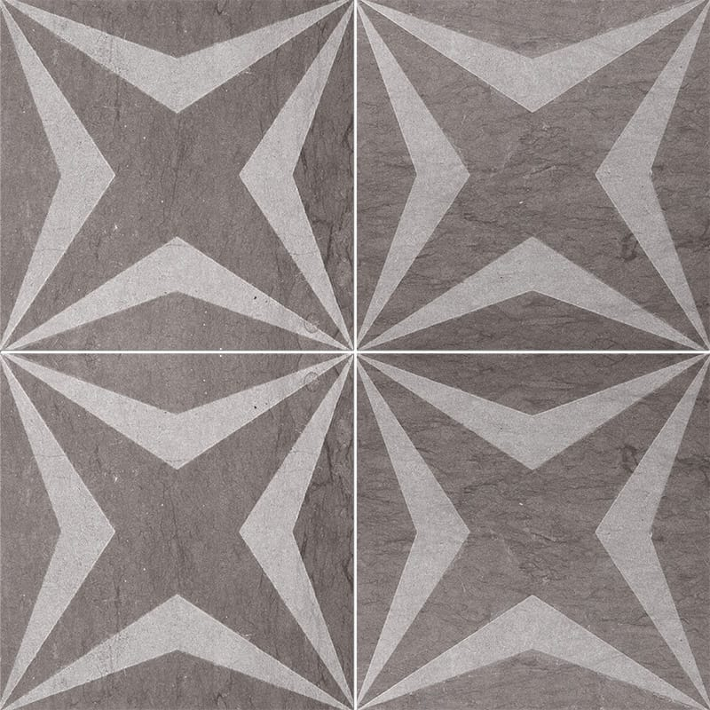 Bosphorus Stars Brown Diced Limestone Tiles 20,3x20,3