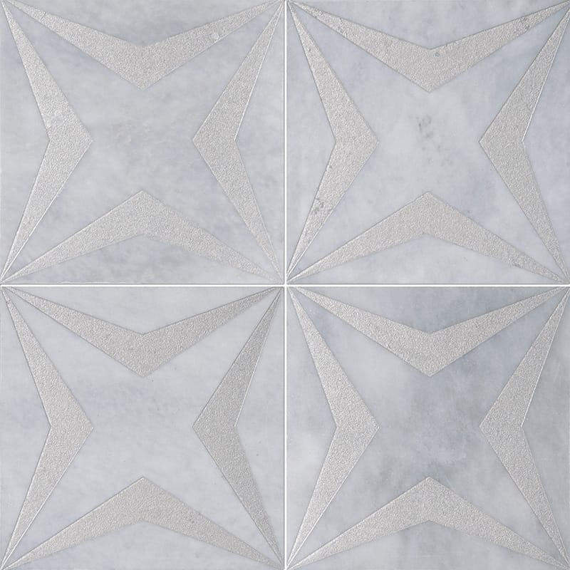 Allure Stars Gray Diced Marble Tiles 20,3x20,3