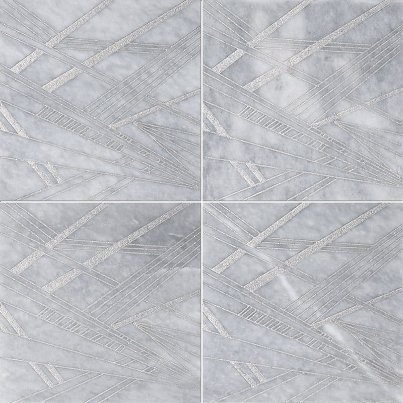Allure A21 Gray Diced Marble Tiles 20,3×20,3