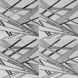 Fantasy White A21 Black Diced Marble Tiles 20,3x20,3