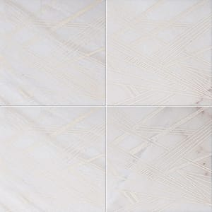 Fantasy White A21 Beige Diced Marble Tiles 20,3x20,3