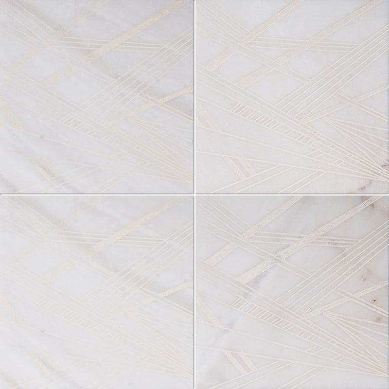 Fantasy White A21 Beige Diced Marble Tiles 20,3×20,3