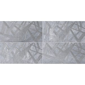 Allure A22 Gray Diced Marble Tiles 20,3x20,3