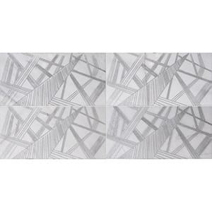 Fantasy White A22 Gray Diced Marble Tiles 20,3x20,3