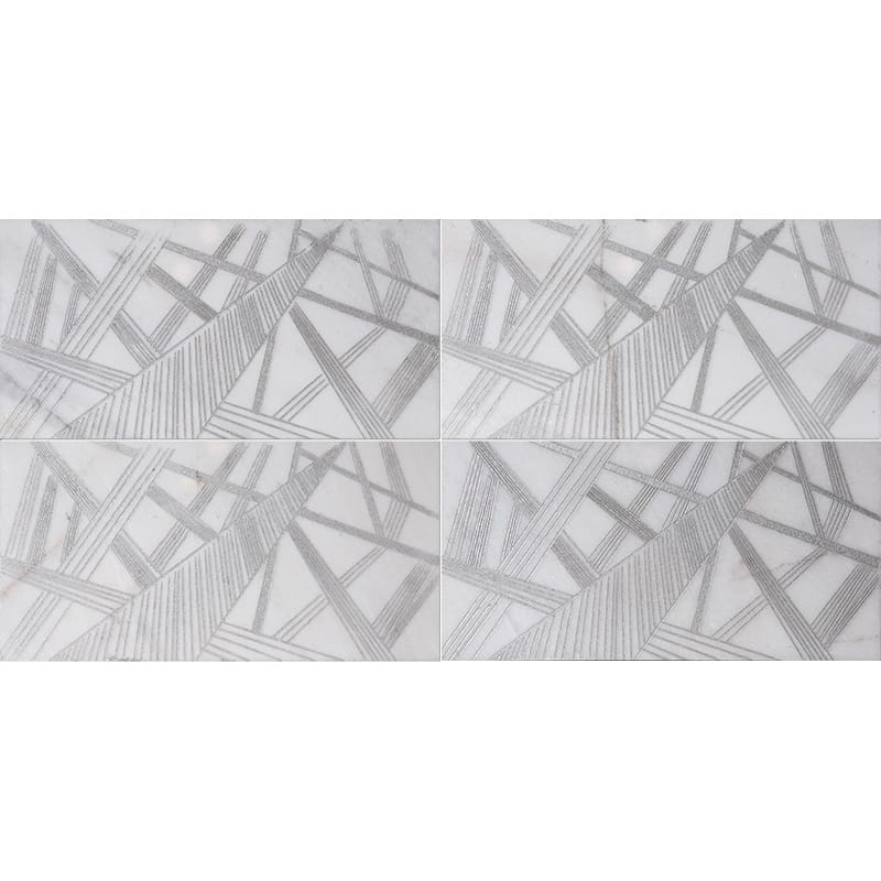 Fantasy White A22 Gray Diced Marble Tiles 20,3×20,3
