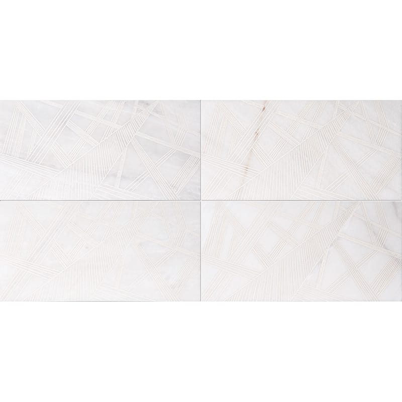 Fantasy White A22 Beige Diced Marble Tiles 20,3×20,3