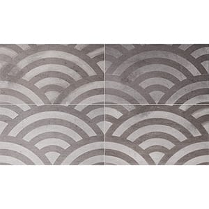Bosphorus Japanese Wave Brown Diced Limestone Tiles 23,5x40,6