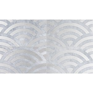 Allure Japanese Wave Gray Diced Marble Tiles 23,5x40,6
