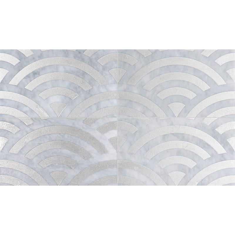 Allure Japanese Wave Gray Diced Marble Tiles 23,5×40,6