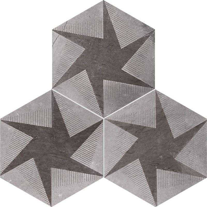 Bosphorus Rotation Brown Diced Limestone Tiles 20,3×20,3