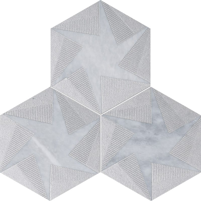 Allure Rotation Gray Diced Marble Tiles 20,3×20,3