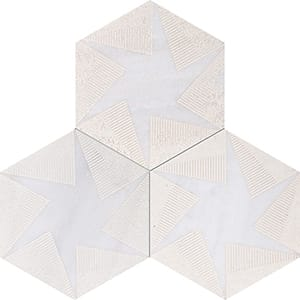 Fantasy White Rotation Beige Diced Marble Tiles 20,3x20,3