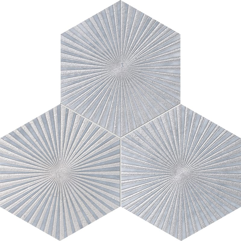 Allure Reflection Gray Diced Marble Tiles 20,3×20,3