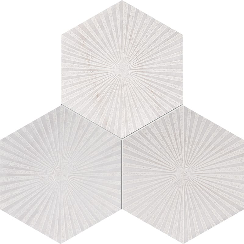 Fantasy White Reflection Beige Diced Marble Tiles 20,3×20,3