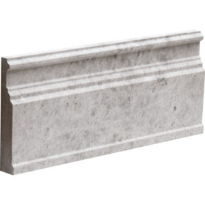 Silver Shadow Honed Base Marble Moldings 12x30,5