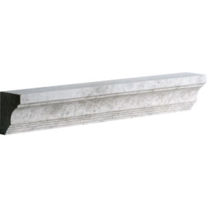 Silver Shadow Honed Cornice Marble Moldings 5x30,5
