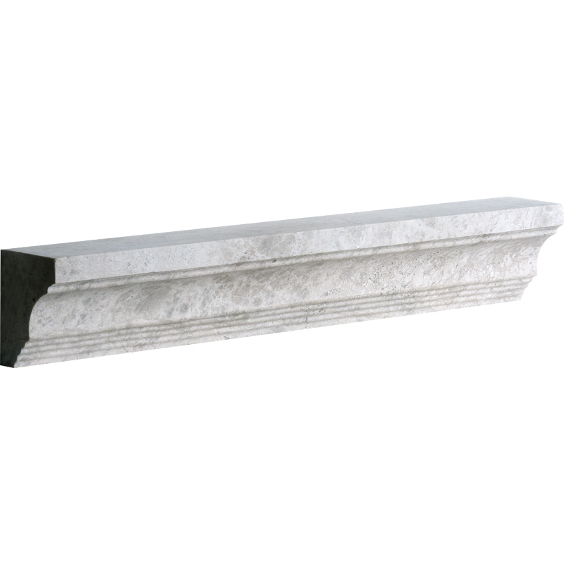 Silver Shadow Honed 5x30,5 Cornice Marble Moldings