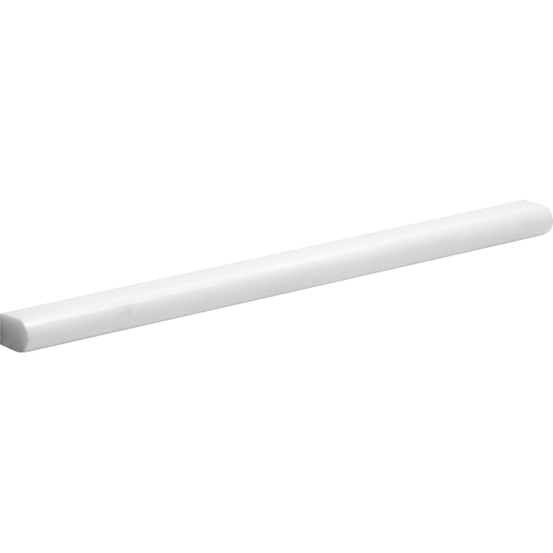 Snow White Polished 1,5x30,5 Pencil Liner Marble Moldings
