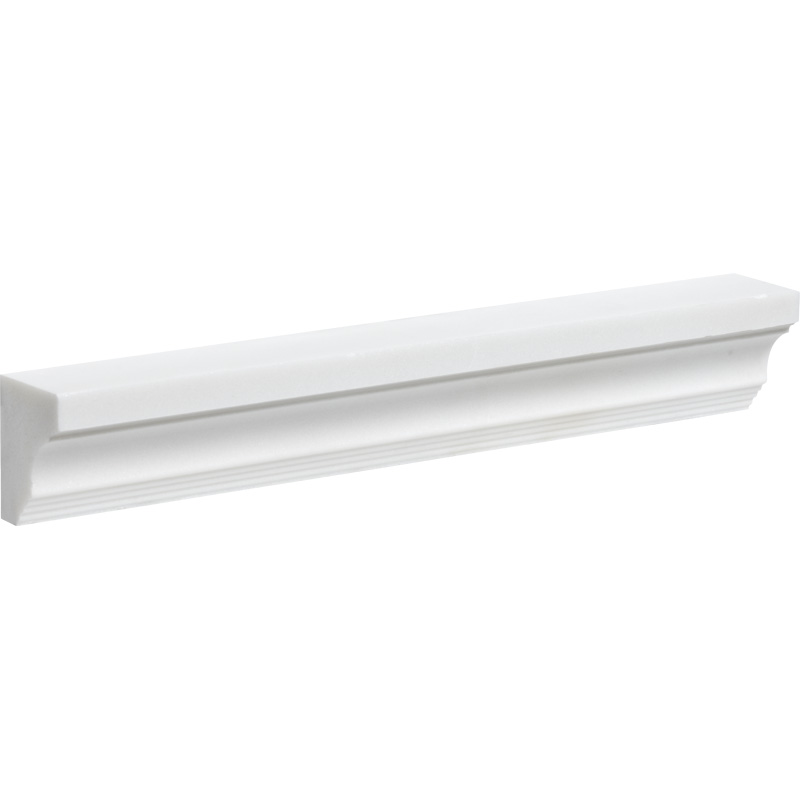 Aspen White Honed 5x30,5 Cornice Marble Moldings