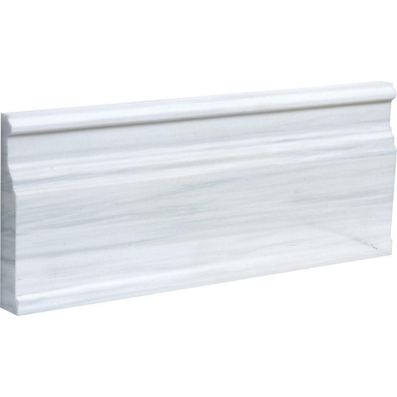 Bianco Dolomiti Classic Polished Modern Base Marble Moldings 12x30,5