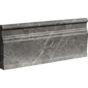 Arctic Gray Polished Modern Base Marble Moldings 12x30,5