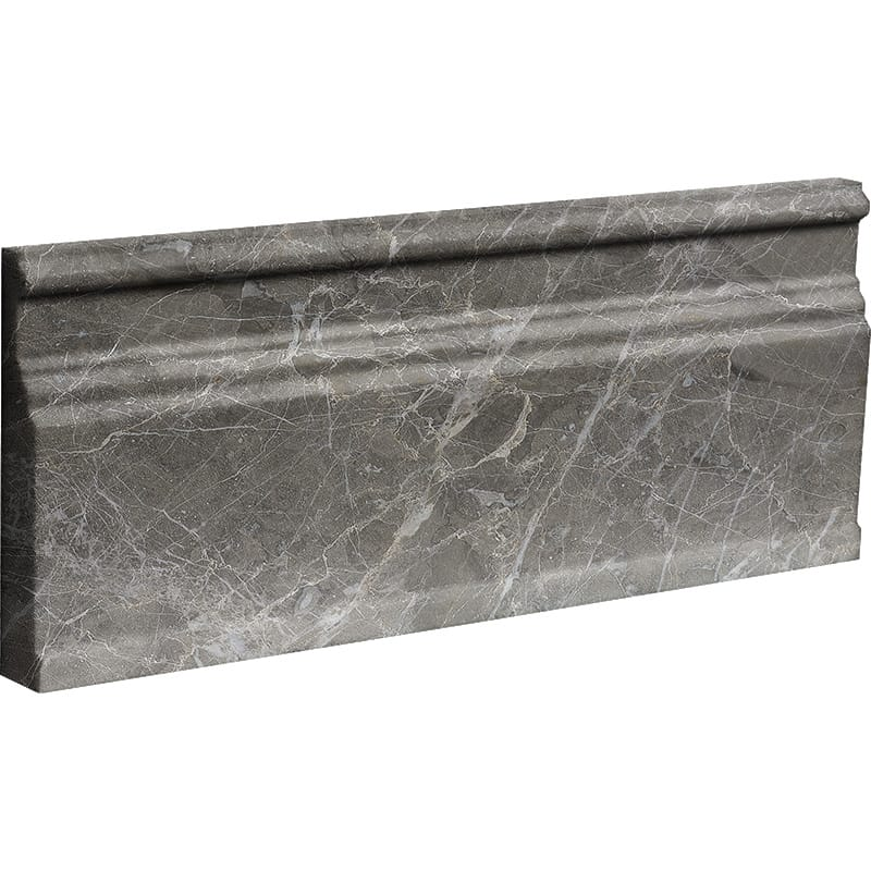 Arctic Gray Polished Modern Base Marble Moldings 12×30,5